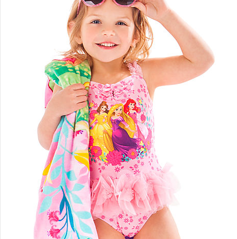cc96b50395 H1312 ชุดว่ายน้ำเด็ก Disney Princess Deluxe Swimsuit for Girls ของแท้  พร้อมส่ง