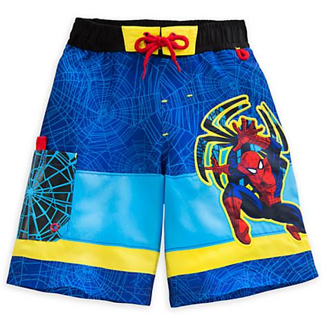 Disney Store Marvel Spider-Man Swim Trunks Shorts Boy Size 5//6
